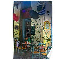 Sidewalk Cafe, Athens, Greece Poster
