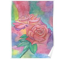 Pink & Mauve Roses Poster