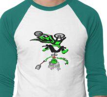 Dirt Bike Skeleton Men's Baseball ¾ T-Shirt