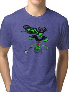 Dirt Bike Skeleton Tri-blend T-Shirt