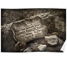 """Graveyard Adornments #26 - """" Placement of Stones"""" Poster"""