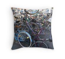 Bike park Throw Pillow