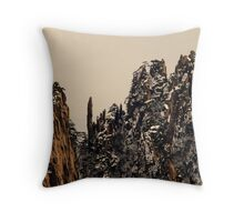 winter,  Huang Shan  Throw Pillow