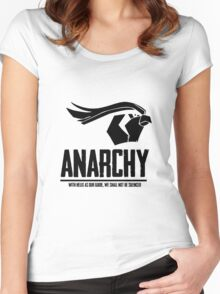 Anarchy (Black Text) Women's Fitted Scoop T-Shirt