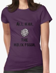 All Hail The Helix Fossil Womens Fitted T-Shirt