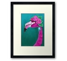 Frida Flamingo Framed Print