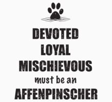 Devoted, Loyal, Mischievous Affenpinscher by Helen Green