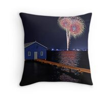 Crawley Edge Boatshed Fireworks Throw Pillow