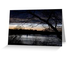 Wintry Sunset Greeting Card