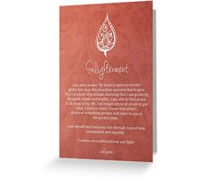 Affirmation - Enlightenment Greeting Card