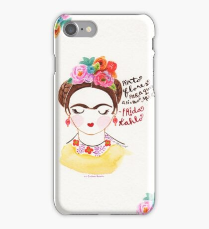 I Paint Flowers. iPhone Case/Skin