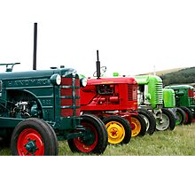 Tractor parade Photographic Print