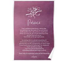 Affirmation - Patience Poster