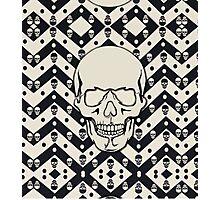 Chevron Skull Photographic Print
