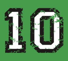 The Number Ten - No. 10 (two-color) white by theshirtshops