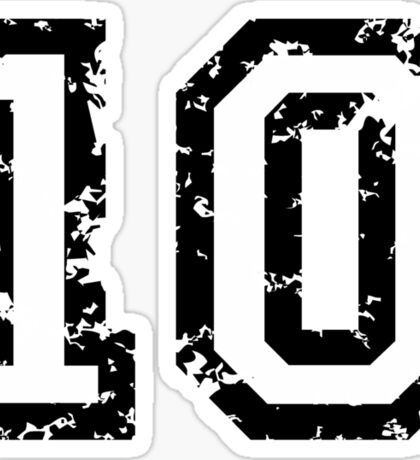 The Number Ten - No. 10 (two-color) white Sticker