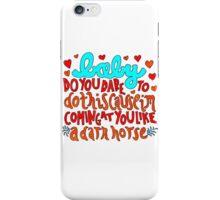 Dark Horse Lyric Drawing iPhone Case/Skin
