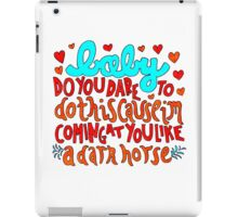 Dark Horse Lyric Drawing iPad Case/Skin