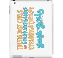 Girls Lyric Drawing iPad Case/Skin