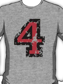 Number Four - No. 4 (two-color) red T-Shirt