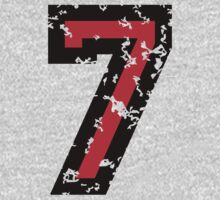 Number Seven - No. 7 (two-color) red by theshirtshops