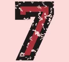 Number Seven - No. 7 (two-color) red Kids Clothes