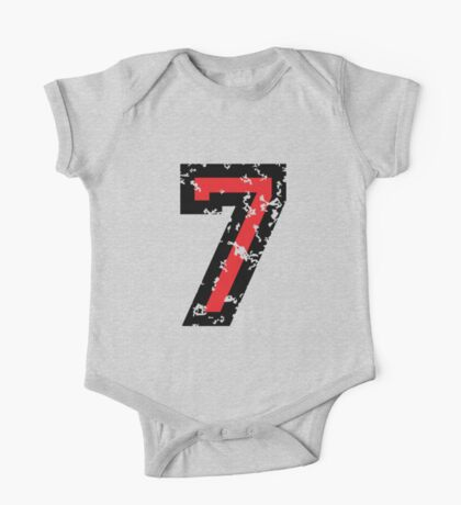 Number Seven - No. 7 (two-color) red One Piece - Short Sleeve
