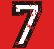Number Seven - No. 7 (two-color) white by theshirtshops