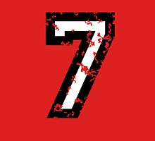 Number Seven - No. 7 (two-color) white Unisex T-Shirt