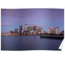 Docklands Dusk Poster