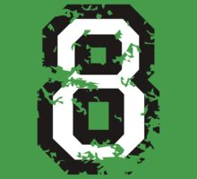 Number Eight - No. 8 (two-color) white by theshirtshops