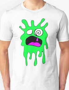Drippy Scream in Green Unisex T-Shirt