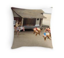 As far as I know, Dorothy is the first and only female Sumo rustler. Throw Pillow