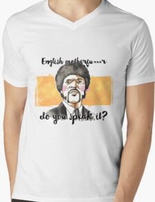 Pulp fiction - Jules Winnfield - English motherfu***r do you speack it? Mens V-Neck T-Shirt
