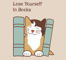 Lose Yourself in Books Cat Unisex T-Shirt