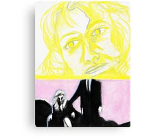 Laura Palmer feat. Dale Cooper in pastel- Twin Peaks Canvas Print