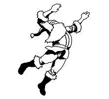 Santa playing Volleyball Photographic Print