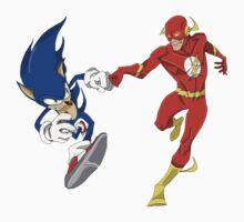 Sonic & Flash! by ryandench
