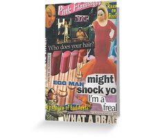 Filth is My Politics, Filth is My Life! Greeting Card