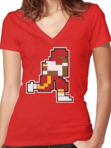 Nintendo Tecmo Bowl Washington Redskins RGIII Women's Fitted V-Neck T-Shirt