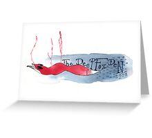 The Deep Fox Den Greeting Card
