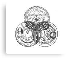 Superwholock Venn Diagram (Transparent) Canvas Print