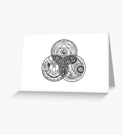 Superwholock Venn Diagram (Transparent) Greeting Card