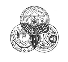 Superwholock Venn Diagram (Transparent) Photographic Print