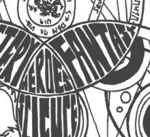 Superwholock Venn Diagram (Transparent) Sticker