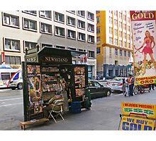 Magazine Stand Downtown LA Photographic Print