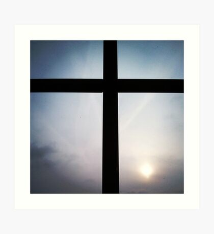 Joshua 1:9 Cross Art Print