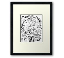 Wendoodle, there's a bike in there Framed Print