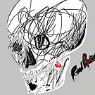 Human Skull (imaginary) -(220214)- Digital artwork/MS Paint by paulramnora