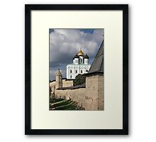 View of the Pskov Kremlin Framed Print